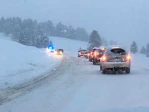 Cars Off The Road On Lone Mountain Trail | Photo: D. Lennon