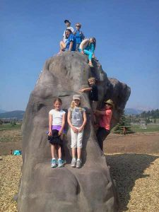 Kids Bouldering In The Big SKy Community Park | Photo: Big Sky Community Organization