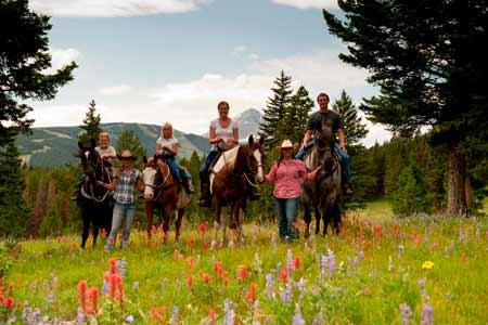 Family Horseback Ride | Photo: Lone Mountain Ranch