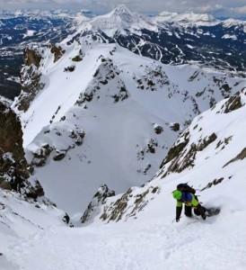 ski mountaineering in big sky