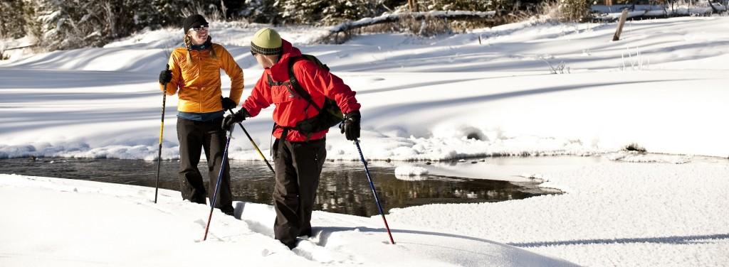 snowshoeing slider