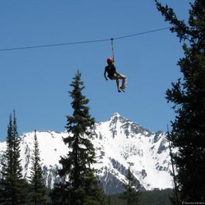ziplining at Big Sky Resort
