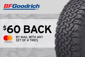 $60 back on BF Goodrich tires