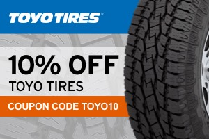 10% off Toyo tires with code Toyo10