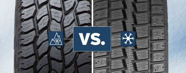Snow-rated all-terrain tires vs. winter tires