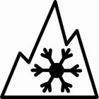 mountain snowflake symbol