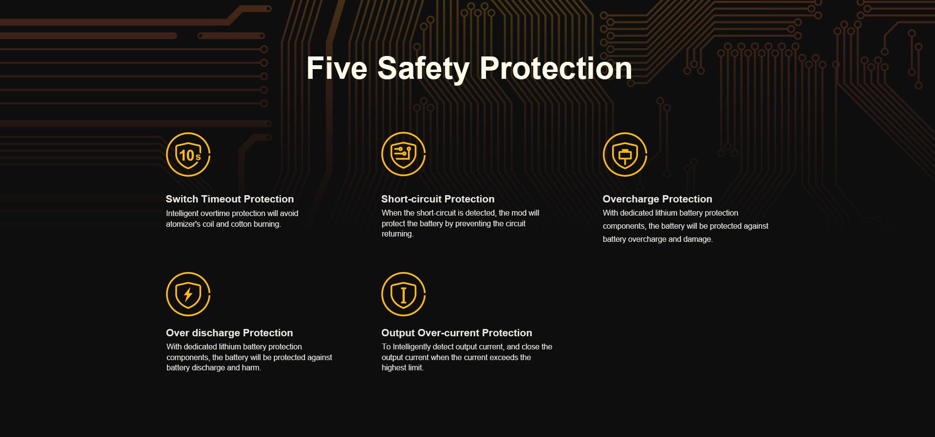 Drag Nano de Voopoo Protecciones de Seguridad