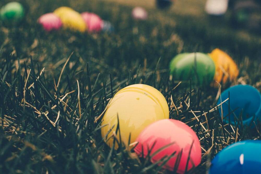 easter egg stock photo