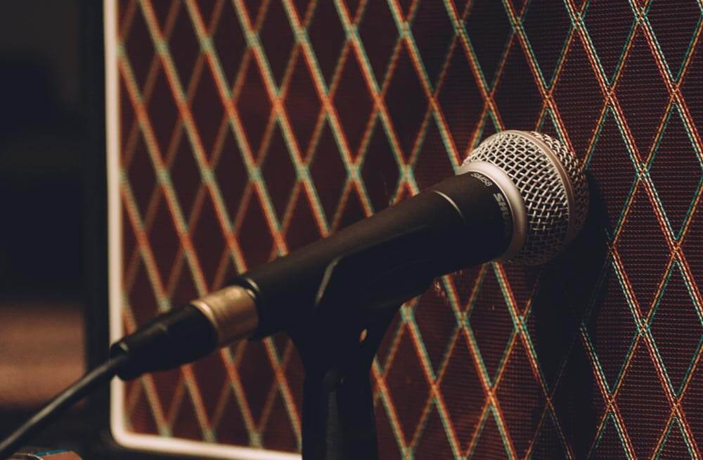 mic amp stock photo