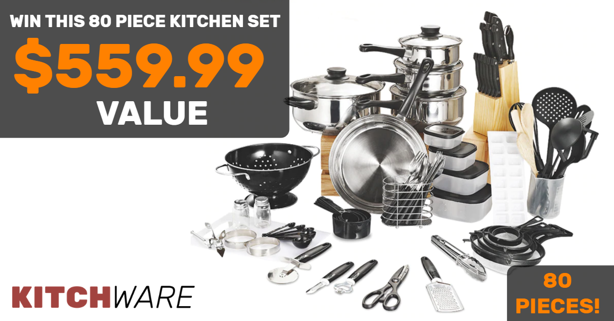online contests, sweepstakes and giveaways - Win this Kitchen Set Valued at $559.99