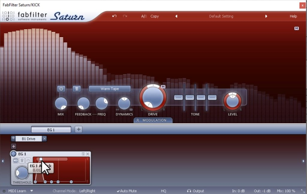 How to use Saturation on a Kick Drum