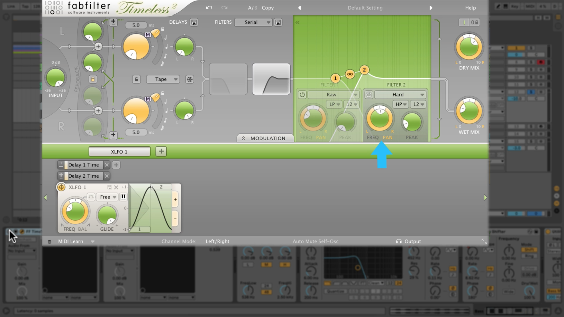Widening a bass with Fabfilter Timeless 2