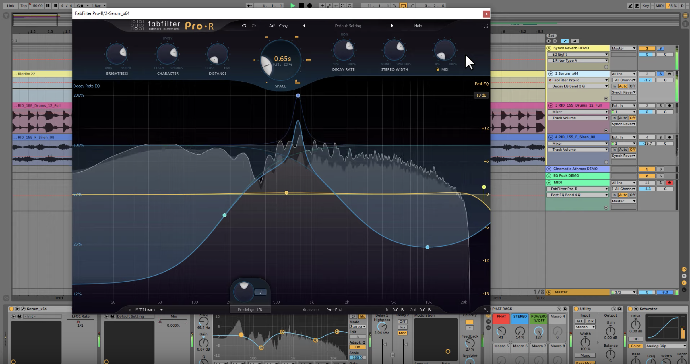 Using FabFilter Pro-R to Make BPM Sync Effects on Bass