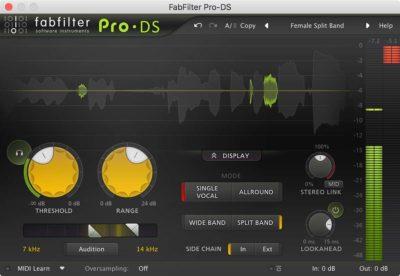 FabFilter Pro DS - De-esser
