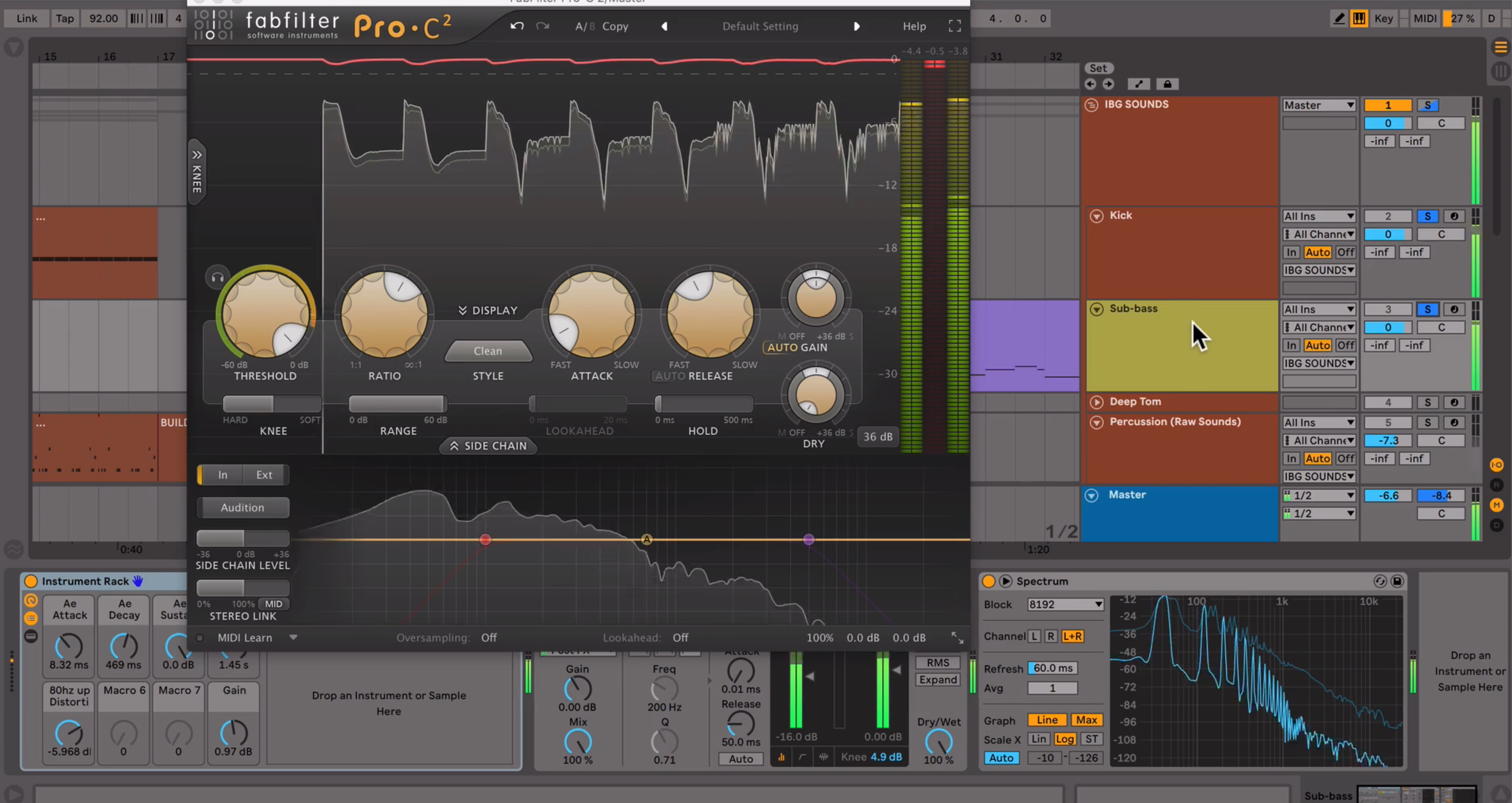 Compressing a Drum Bus Tutorial with FabFilter Pro-C2
