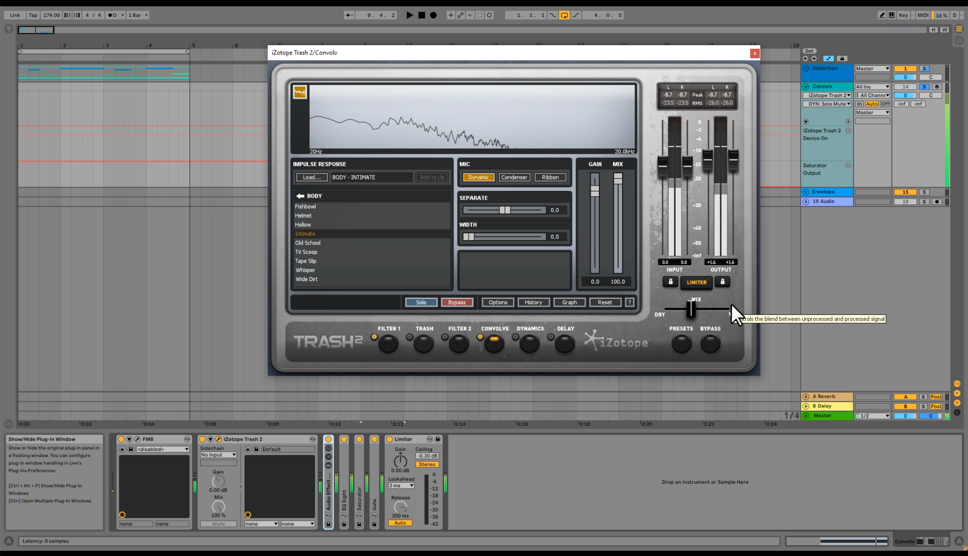 How to Use Distortion with iZotope's Trash 2 + the Convolve Module