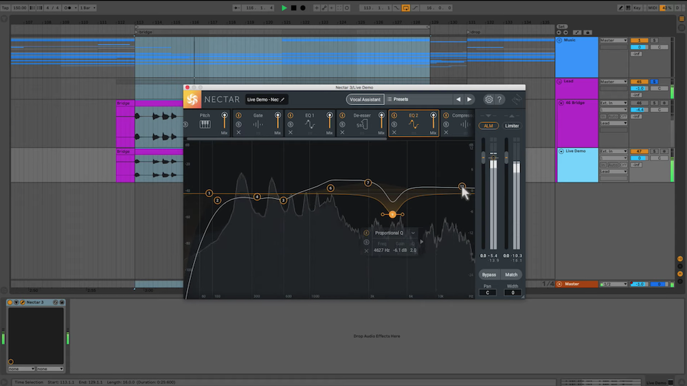 The iZotope Nectar 3 Interface