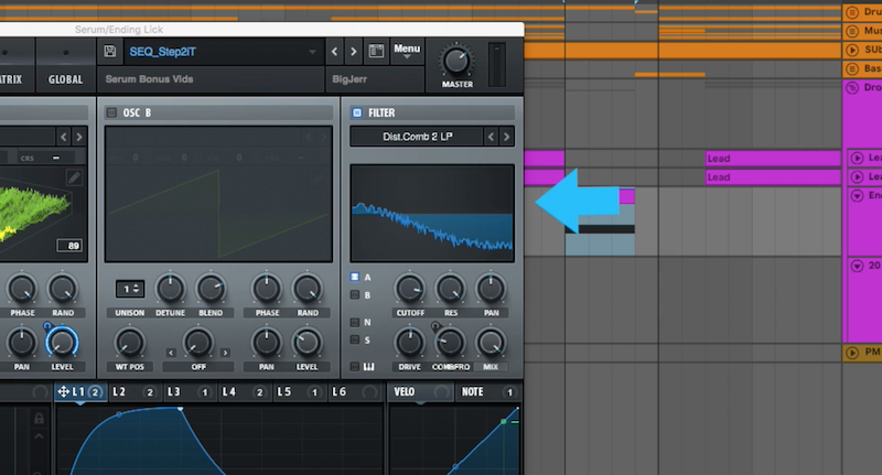 Distorted Comb Filter - A new feature of Serum 1.23