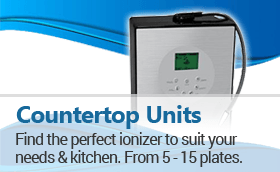 Counter Top Ionizers: Find the right counter top ionizer that best suits your needs.