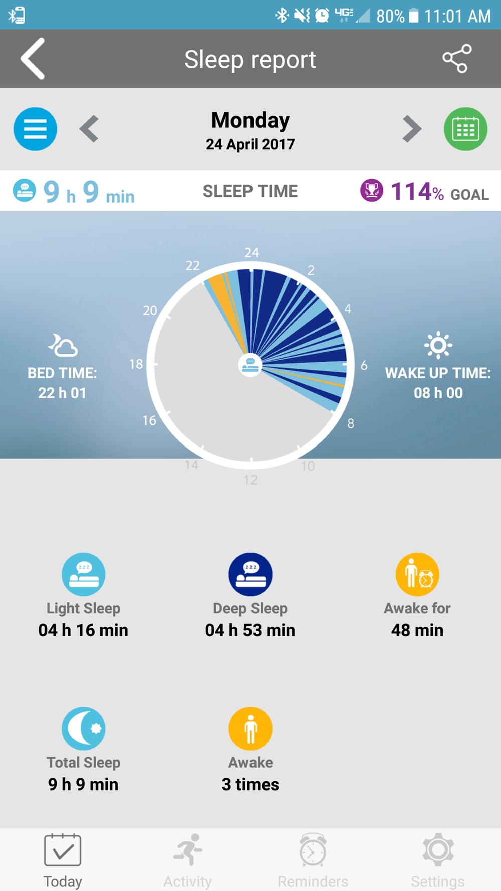 MyKronoz ZeSport sleep tracking