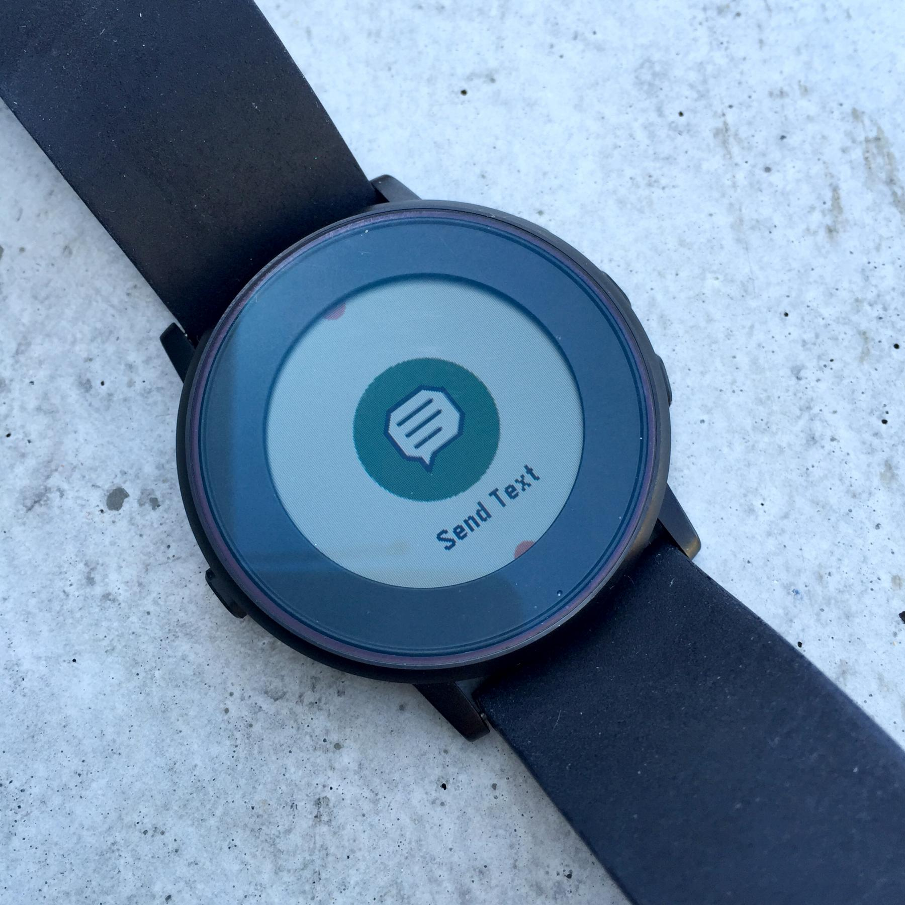 Smart notifications on Pebble Time Round