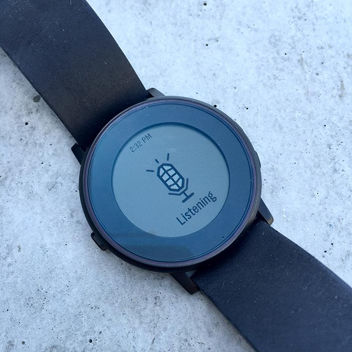 Pebble Time Round listening for voice