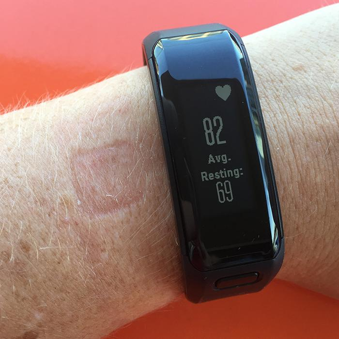 Device indent from Garmin Vivosmart HR