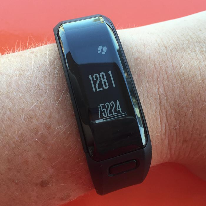 Step count on the Garmin Vivosmart HR