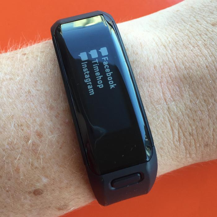 Notifications on the Garmin Vivosmart HR