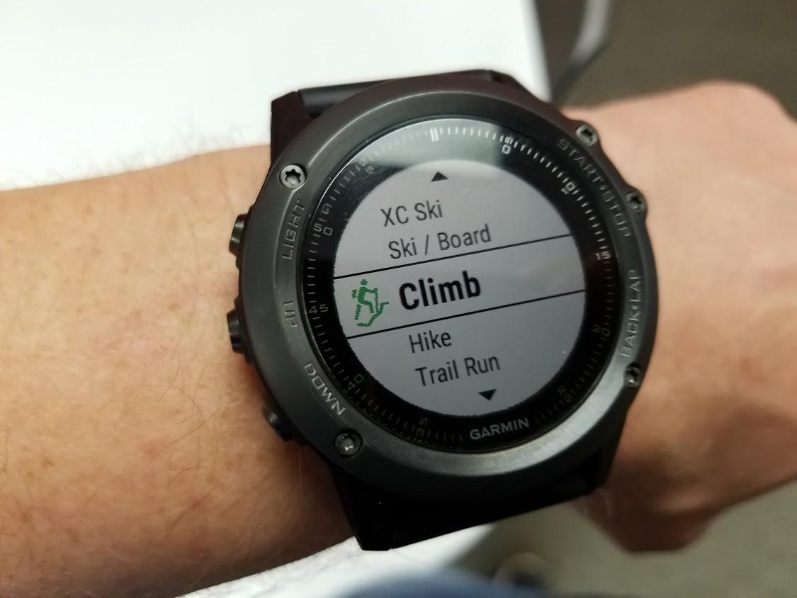 Garmin Watch Activities