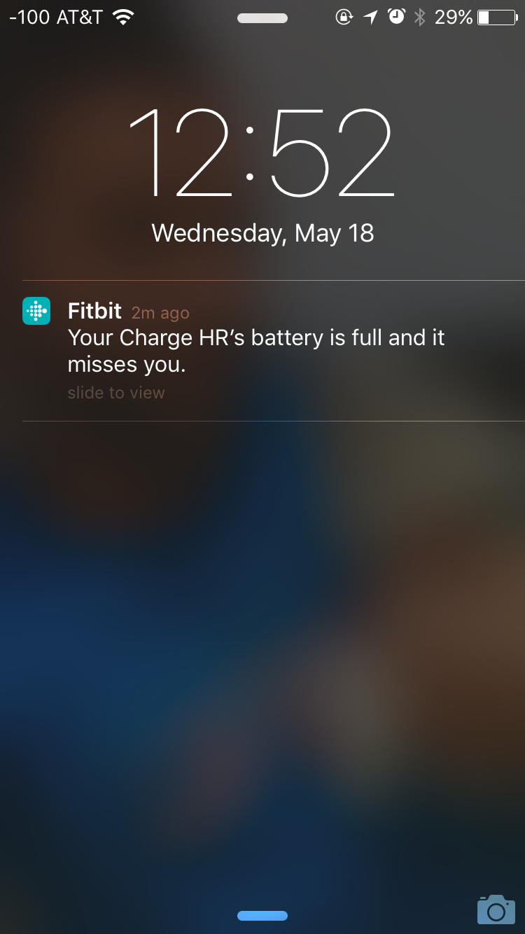 Fitbit notification
