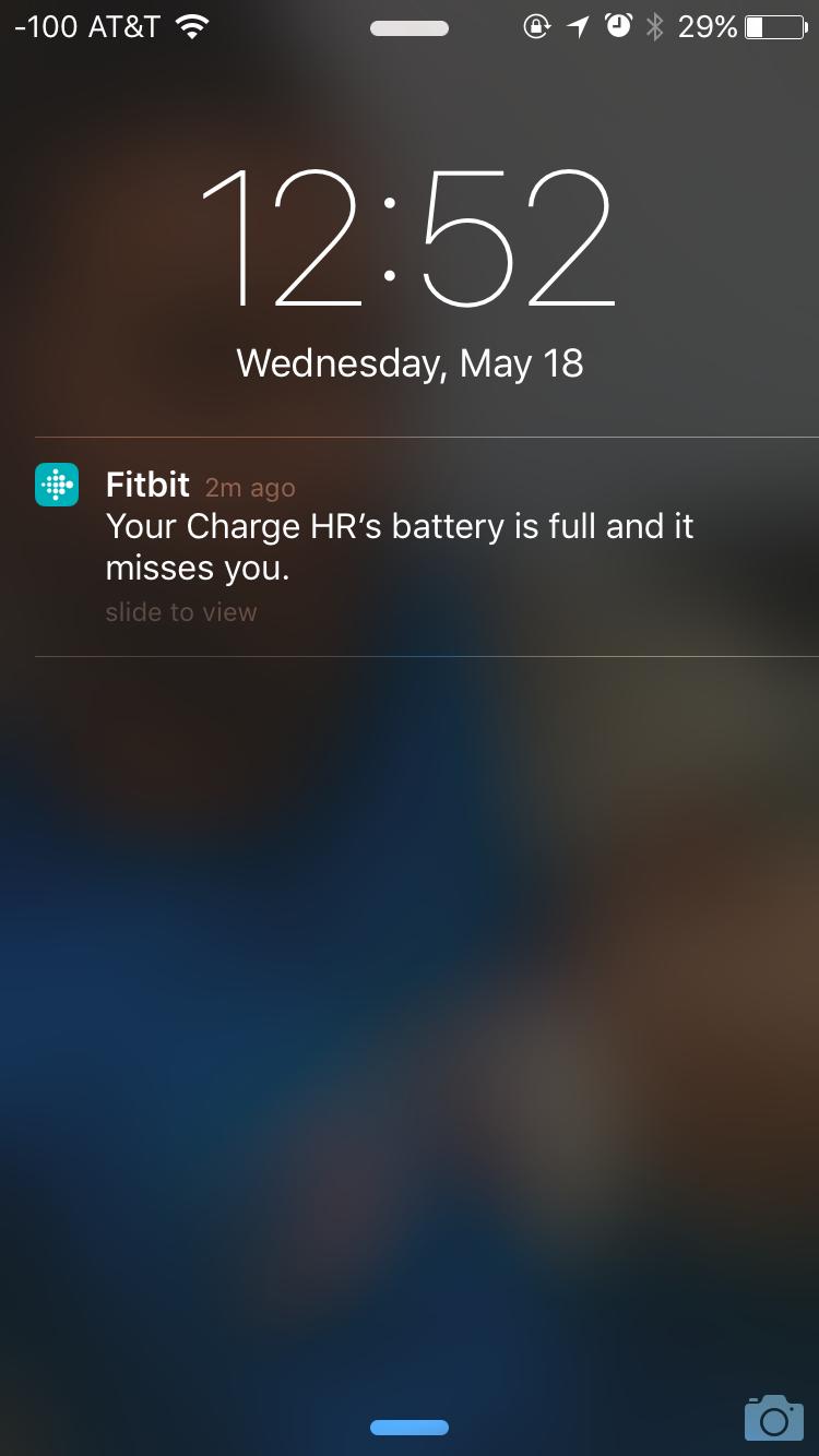 Fitbit notification