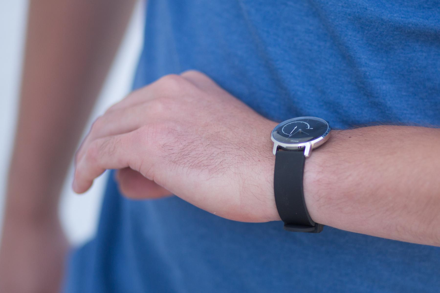Withings Activite Steel on wrist