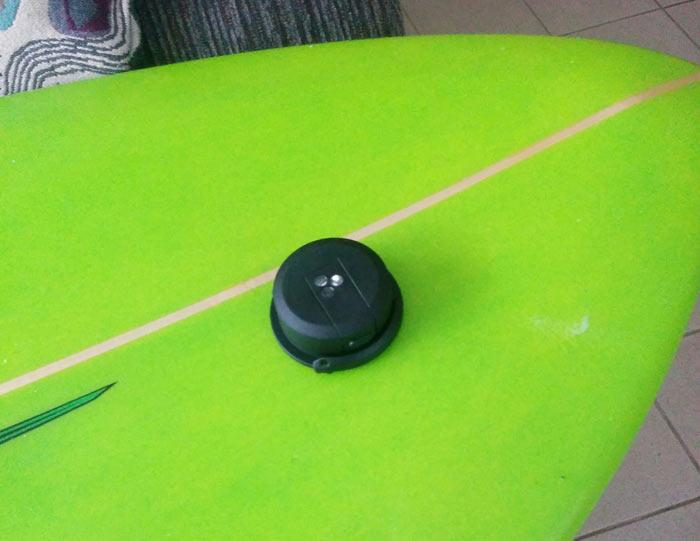 Trace Tracker on Surfboard