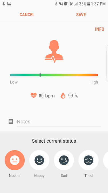 Samsung Health Stress Test