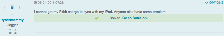 Fitbit won't sync with iPad