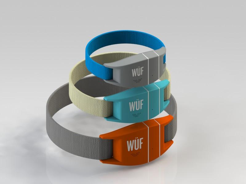 Wuf collars in three sizes