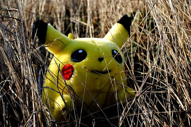 PIkachu in grass