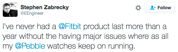 Fitbit Pebble purchase
