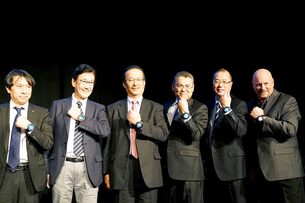 Casio executives wearing Pro Trek Smart