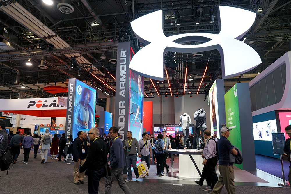 Under Armour booth at CES