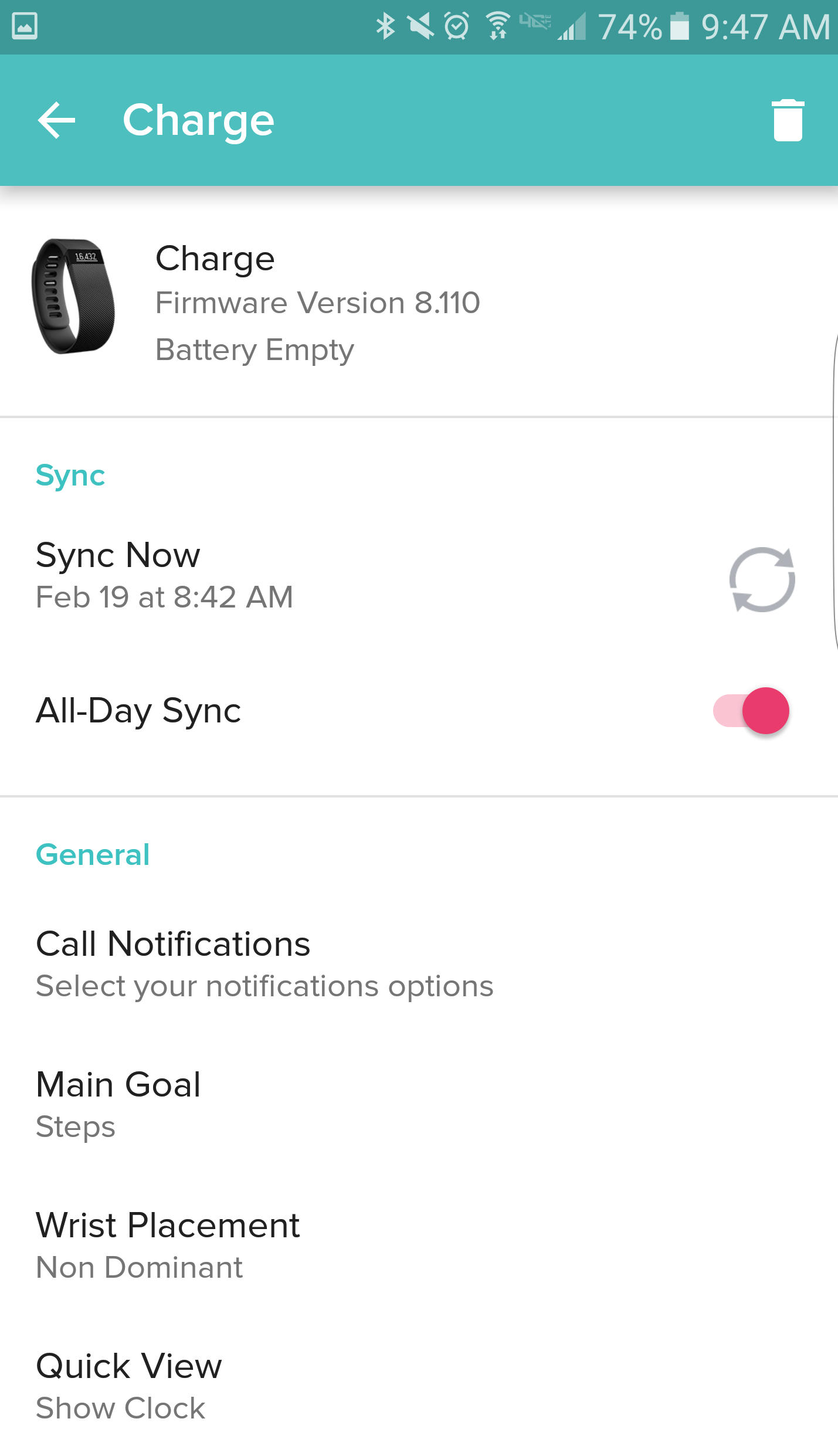 All Day Syncing And Sync Now Feature On Android Fitbit App