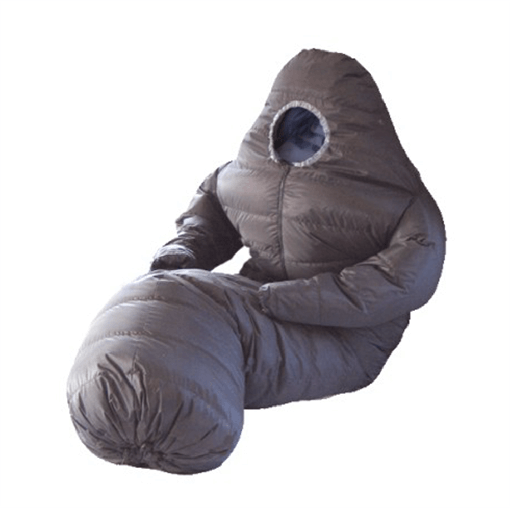 the wearable sleeping bag is your outdoor snuggie. Black Bedroom Furniture Sets. Home Design Ideas