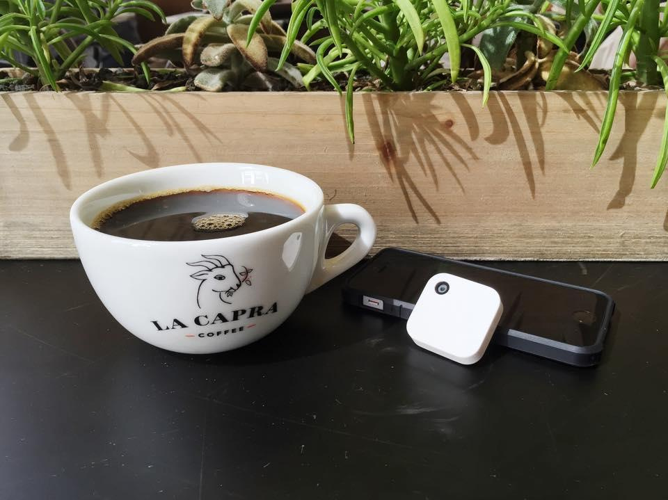 Narrative camera with coffee