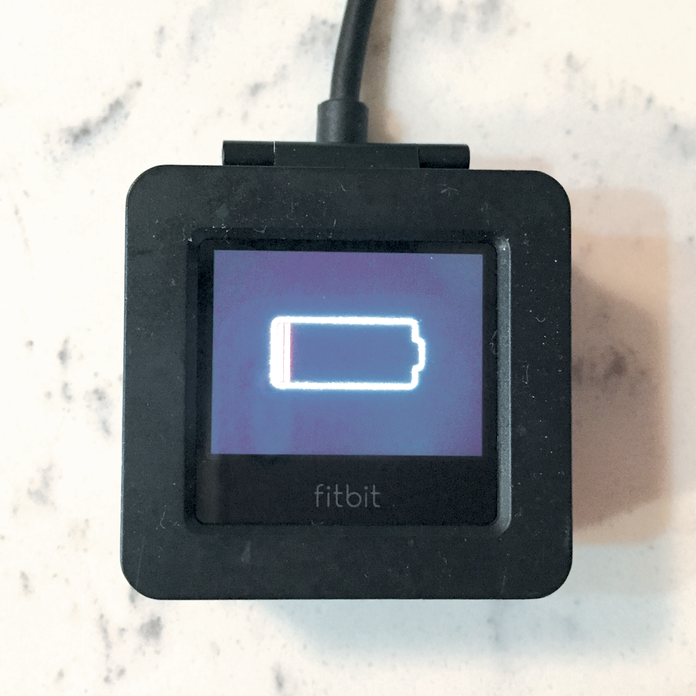 Fitbit Blaze battery life