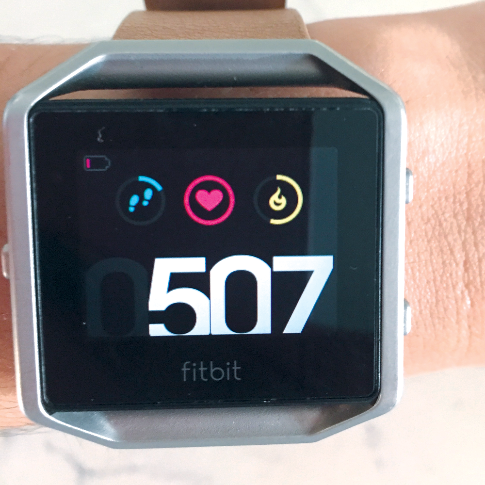 Fitbit Blaze low battery screen