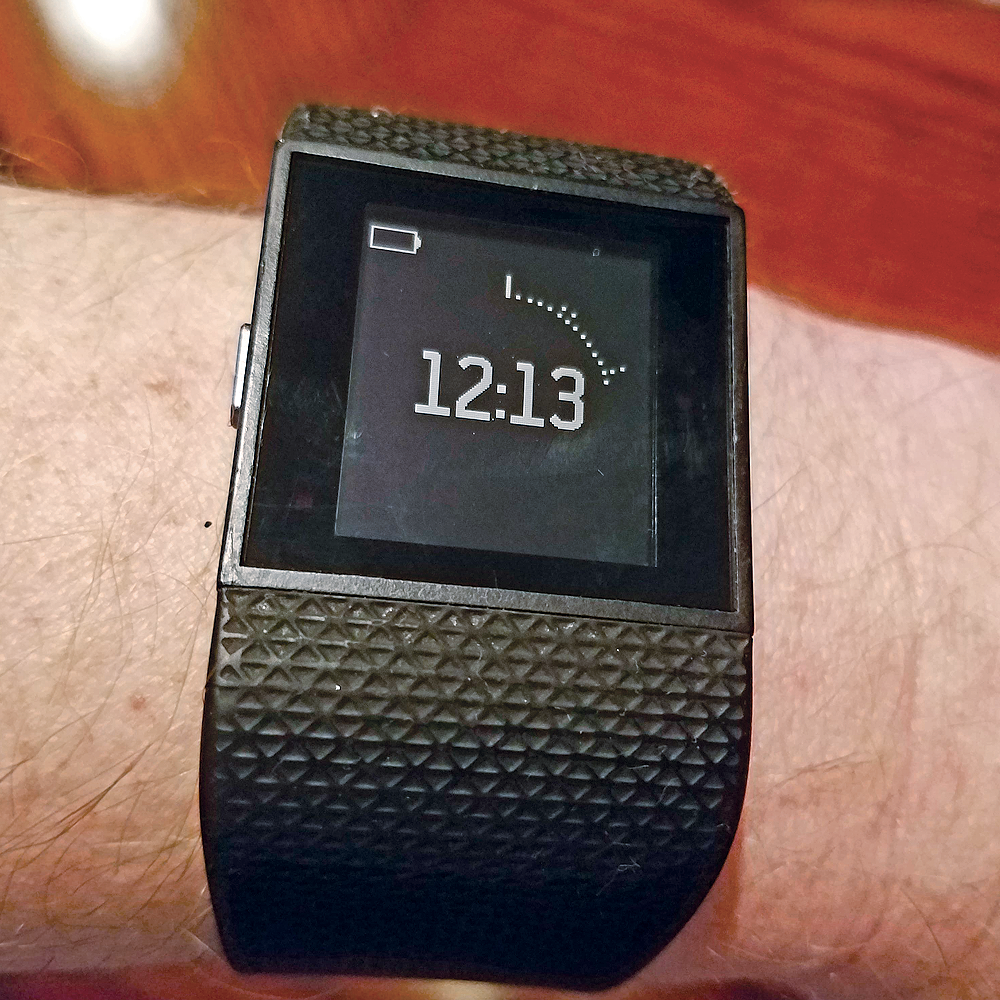 Fitbit Surge battery life