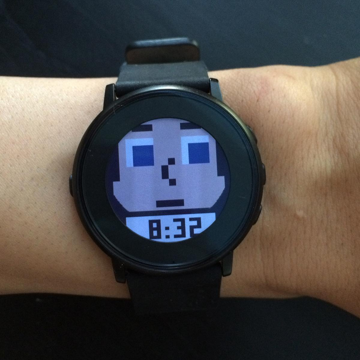 Tinyheads Pebble watch face