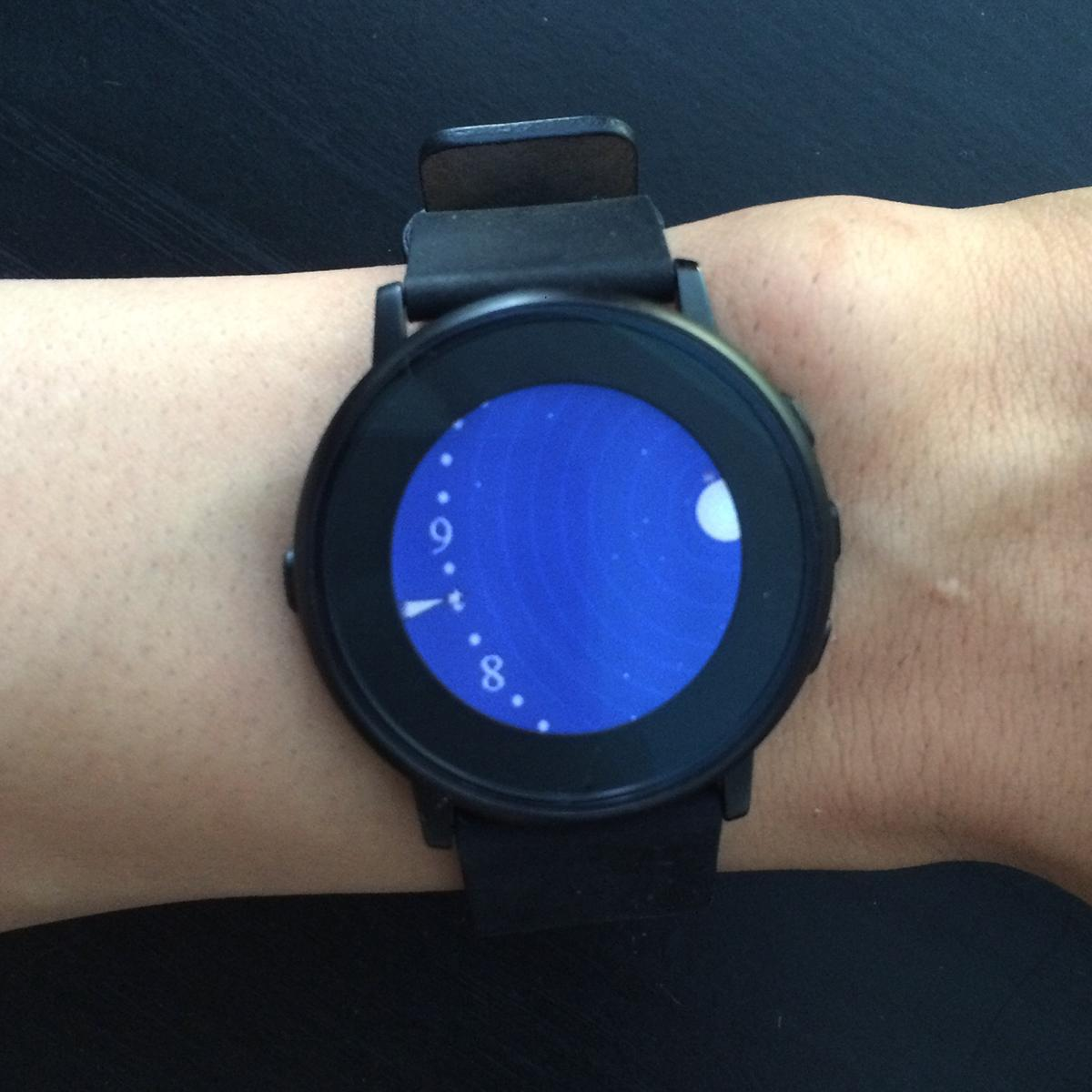 Planetarium Pebble watch face