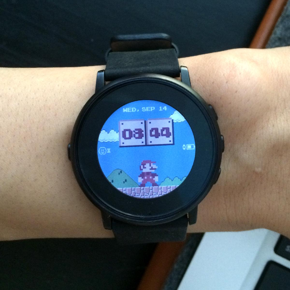 Mario Time Pebble watch faces